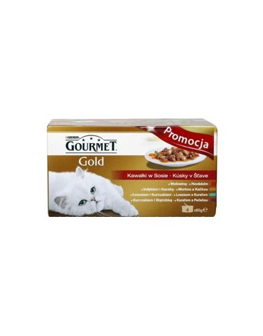 Gourmet Gold Mix - cztery smaki w sosie - puszka 4x85g