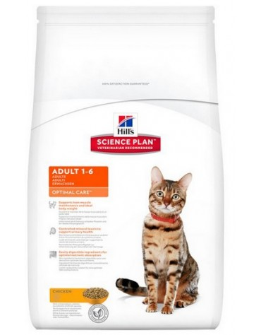 Hill's Feline Adult Chicken Optimal Care 5kg