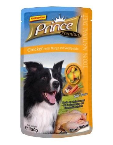 Prince Premium Dog Kurczak, mango i słodkie ziemniaki saszetka 150g [PD1502]