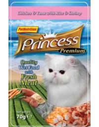 Princess Premium Kot Kurczak, tuńczyk i krewetki saszetka 70g [PPP2]