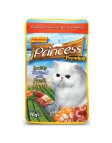 Princess Premium Kot Kurczak, tuńczyk i krab saszetka 70g [PPP4]