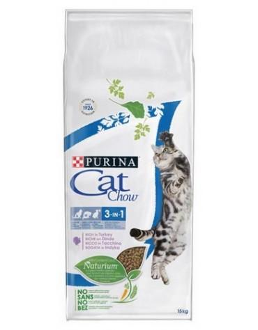 Purina Cat Chow 3in1 z indykiem 15kg