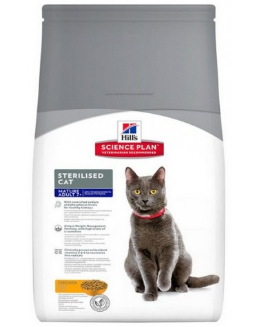 Hill's Feline Mature Adult Senior 7+ Sterilised Chicken 1,5kg