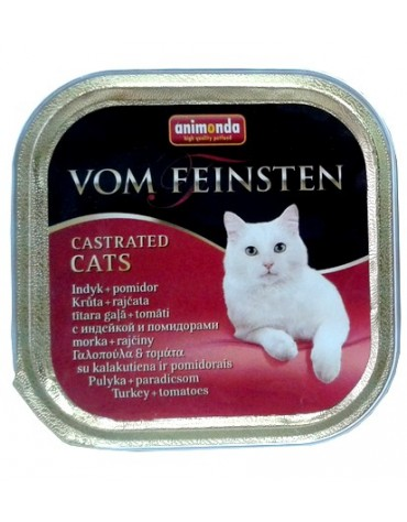 Animonda vom Feinsten Castrated Cats z Indykiem i Pomidorem tacka 100g