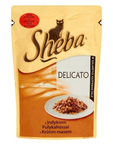 Sheba Delicacy Indyk galaretka saszetka 85g