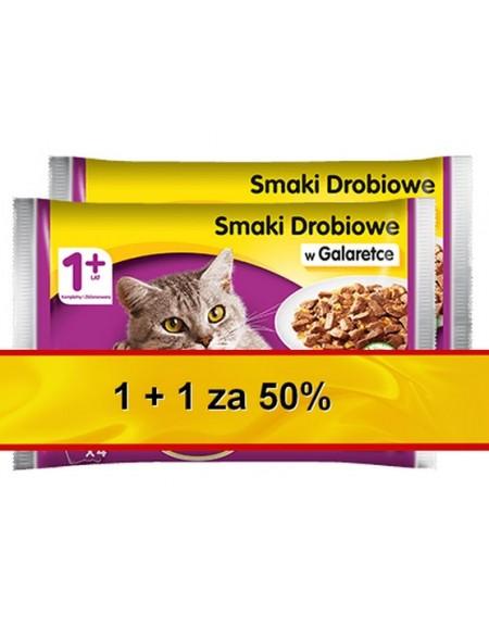 Whiskas Drobiowe Dania w galaretce 1+1 za 50% saszetki 8x100g