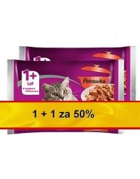 Whiskas Tradycyjna Potrawka w galaretce 1+1 za 50% saszetki 8x100g