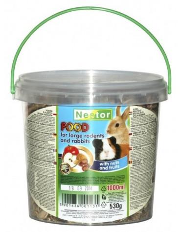 Nestor Pokarm dla dużych gryzoni i królików orzechowo-owocowy 1L