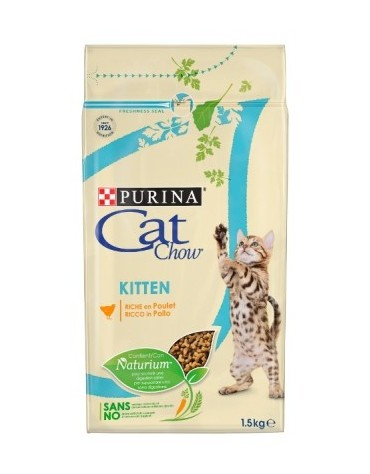 Purina Cat Chow Kitten z Kurczakiem 1,5kg
