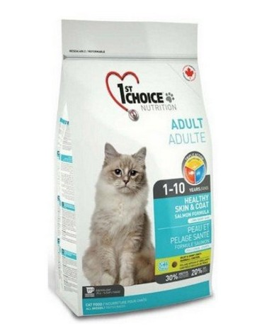 1st Choice Adult Cat Skin & Coat Łosoś 5,44kg