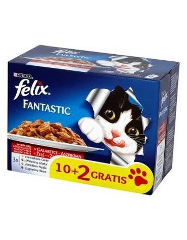 Felix Fantastic Mięso saszetki 12x100g 10+2