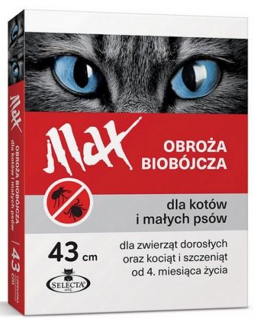 Selecta HTC Obroża Max biobójcza dla kota i małego psa przeciw pchłom i kleszczom czerwona 43cm [SE-5693]