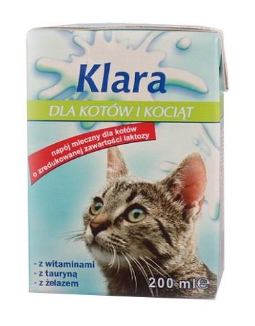 Mleko Klara dla kotów i kociąt kartonik 200ml