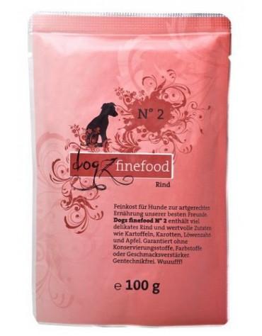 Dogz Finefood N.02 Wołowina saszetka 100g
