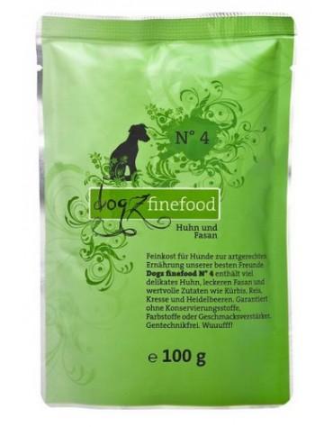 Dogz Finefood N.04 Kurczak i bażant saszetka 100g