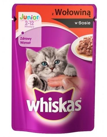 Whiskas Junior Wołowina w sosie saszetka 100g