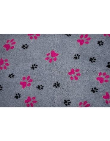 Canifel DryBed Posłanie 100x75cm Duo Paw GY/PK - szaro-różowe