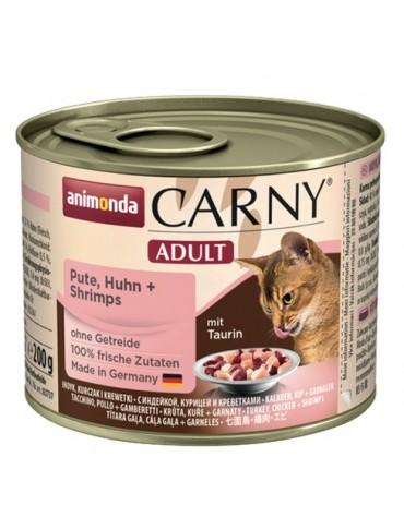 Animonda Carny Adult Indyk, Kurczak + Krewetki puszka 200g