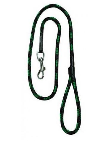 CHABA Smycz linka - 10mm x 120cm czarno-zielona