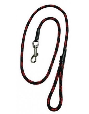CHABA Smycz linka - 6mm x 120cm czarno-czerwona