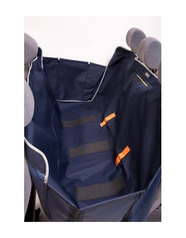 Kardiff Kardimata Anti Slip z bokami 137x167 granatowa - mata samochodowa na tylne fotele