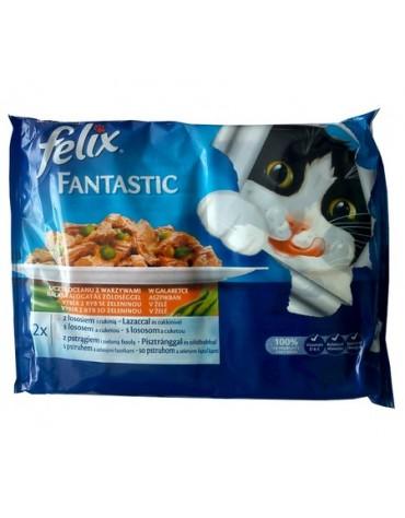 Felix Fantastic Uczta Oceanu z Warzywami w galaretce saszetka 4x100g