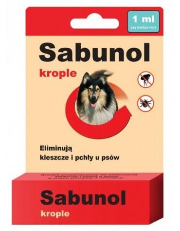 Sabunol Krople przeciw pchłom i kleszczom dla psa 1ml