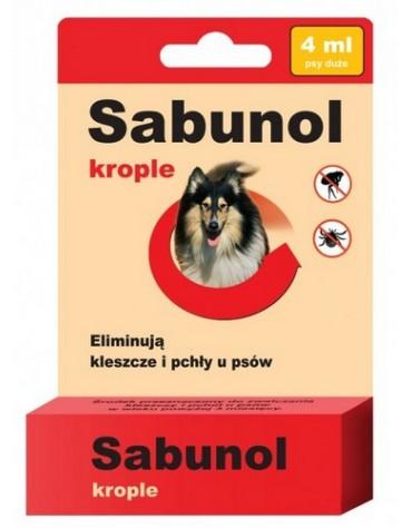 Sabunol Krople przeciw pchłom i kleszczom dla psa 4ml