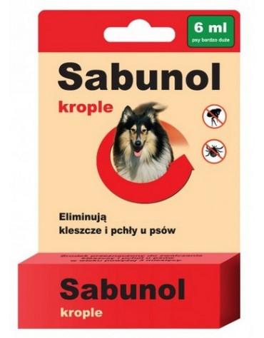 Sabunol Krople przeciw pchłom i kleszczom dla psa 6ml
