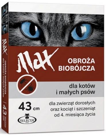 Selecta HTC Obroża Max biobójcza dla kota i małego psa przeciw pchłom i kleszczom 43cm [SE-0919]
