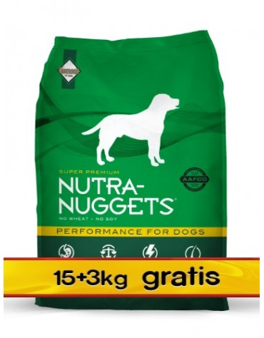 Nutra Nuggets Performance Dog PROMOCJA 18kg (15+3kg)
