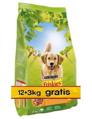Friskies Adult Balance Kurczak i warzywa 15kg (12+3kg gratis)