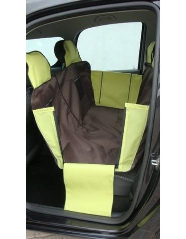 Kardiff Kardimata Active samochodowa na tylne fotele - mata z zamkiem i bokami duża brązowo-zielona 137x167cm
