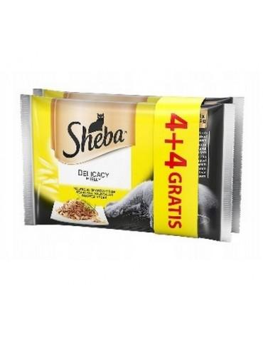 Sheba Delicacy Drób Galaretka saszetki 4+4 gratis 8x85g