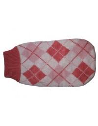 """Doggy Fashion Golf 40cm/14"""" różowy ze wzorem"""