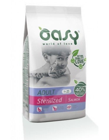 Oasy Kot Dry Sterilized Łosoś 1,5kg