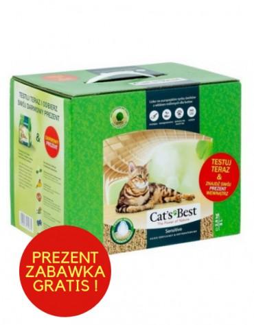 Cat's Best Sensitive (Green Power) 8L / 2,9kg + zabawka gratis!