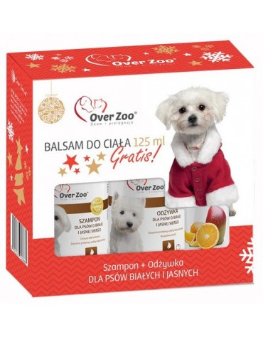 Over Zoo Zestaw świąteczny Szampon + Odżywka dla białej sierści + balsam 125ml gratis