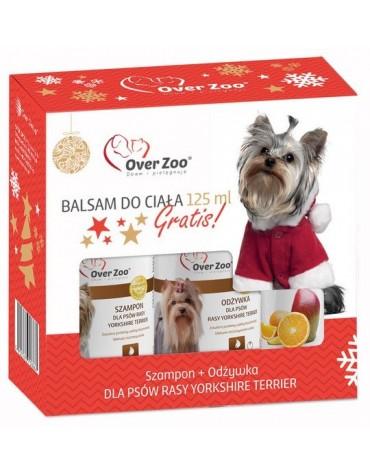 Over Zoo Zestaw Świąteczny Szampon + odżywka dla psów rasy Yorkshire Terier + balsam 125ml gratis