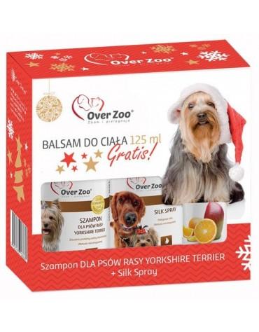 Over Zoo Zestaw Świąteczny Szampon + Silk Spray dla psów rasy Yorkshire Terier + balsam 125ml gratis