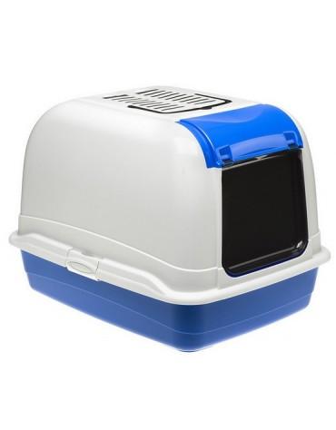 Ferplast Toaleta Maxi Bella biało-niebieska - dla dużego kota [72070099]