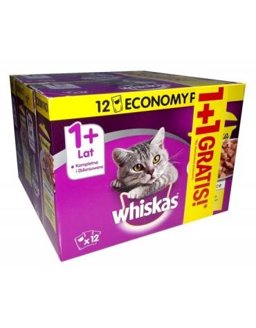 Whiskas Drobiowa Potrawka w galaretce saszetki 24x85g (12+12 gratis)