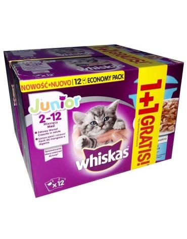 Whiskas Junior Rybna Potrawka w galaretce saszetki 24x85g (12+12 gratis)