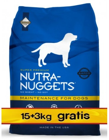 Nutra Nuggets Maintenance Dog PROMOCJA 18kg (15kg+3kg)