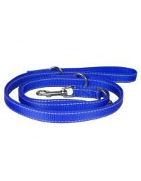 CHABA Smycz regulowana z odblaskiem 20 niebieska