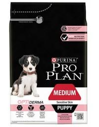 Purina Pro Plan Puppy Medium OptiDerma Sensitive Skin Łosoś 3kg