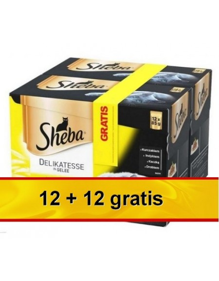 Sheba Smaki drobiowe saszetki 12+12 gratis 24x85g