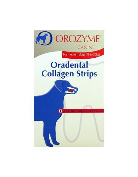 Orozyme Canine S - kolagenowe płatki do żucia 224G