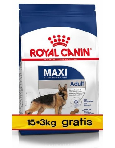 Royal Canin Maxi Adult karma sucha dla psów dorosłych, do 5 roku życia, ras dużych 18kg (15+3kg)