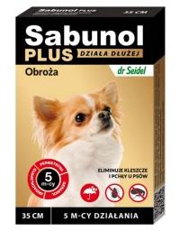 Sabunol Obroża Plus przeciw pchłom dla psa 35cm